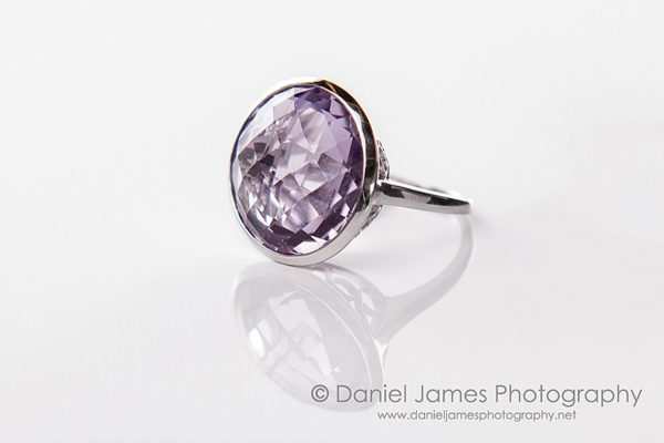 amethyst ring product photography
