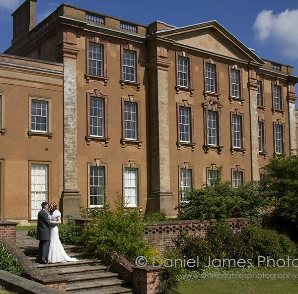 weddingscape bride groom himley hall wedding
