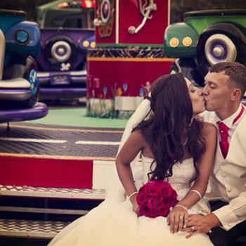 fun fair wedding photography midlands