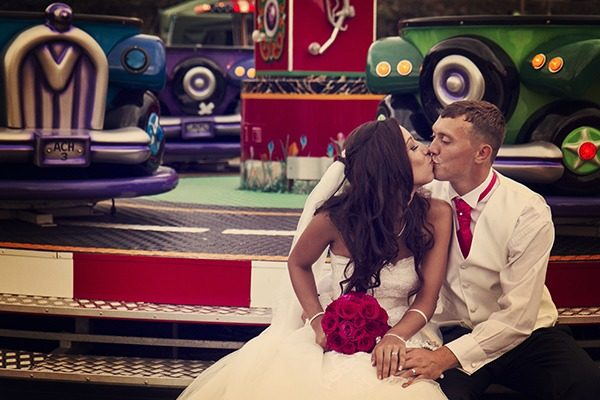 fun fair wedding photography midlands