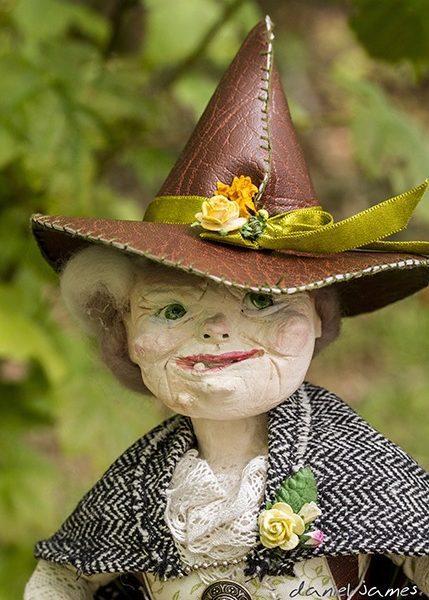closeup witch puppet
