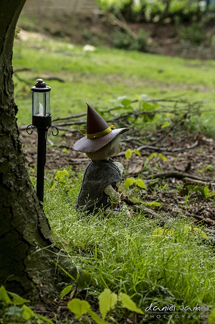witch handmade puppet forest