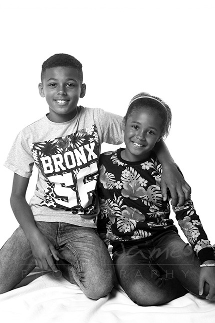 brother sister studio portrait photography