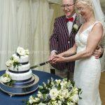 arley arboretum wedding cake cut