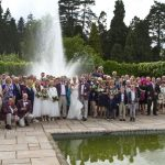 wedding group photo fountain arley