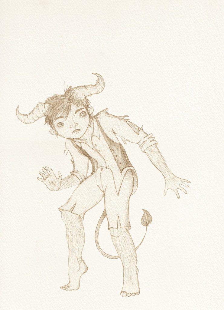 arthur halfling puppet concept art