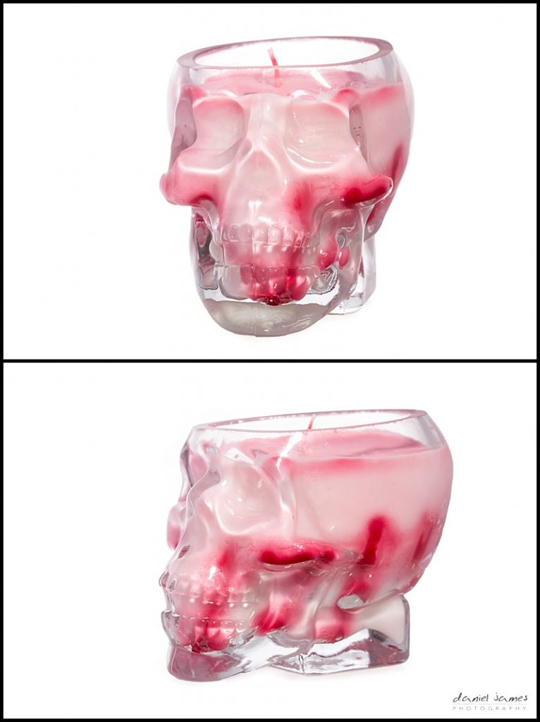 red skull handmade soya wax candle