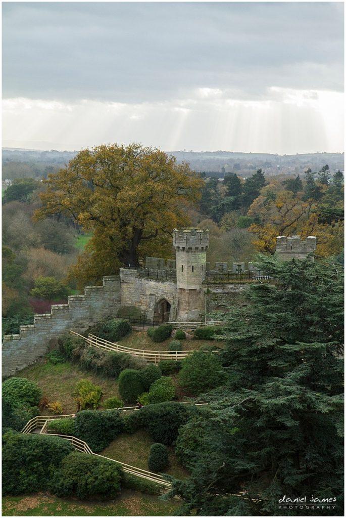 warwick castle aerial