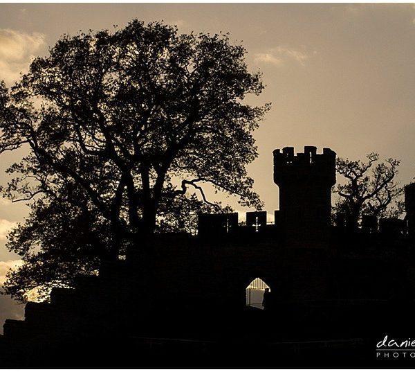 warwick castle sunset silhouette