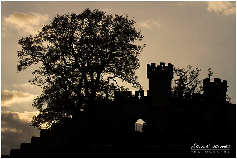 warwick castle sunset silhouette