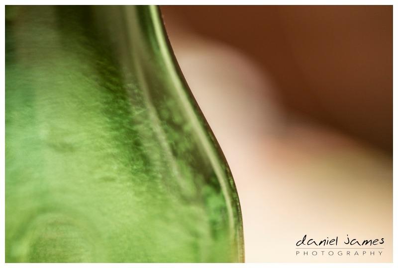 green glass beer bottle closeup macro