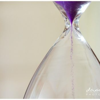 purple hourglass sand timer