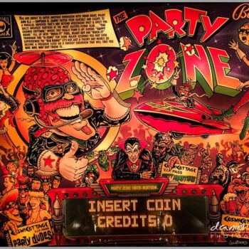 party zone pinball machine retro birmingham