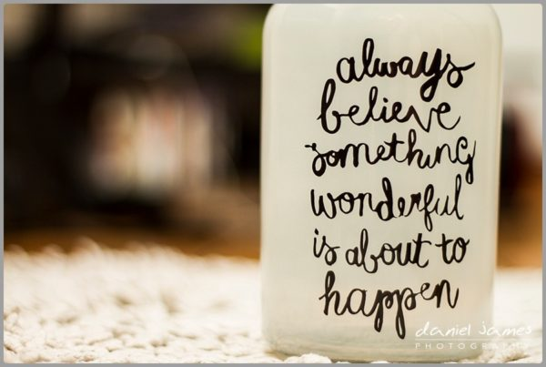 always believe quote vase glass jar