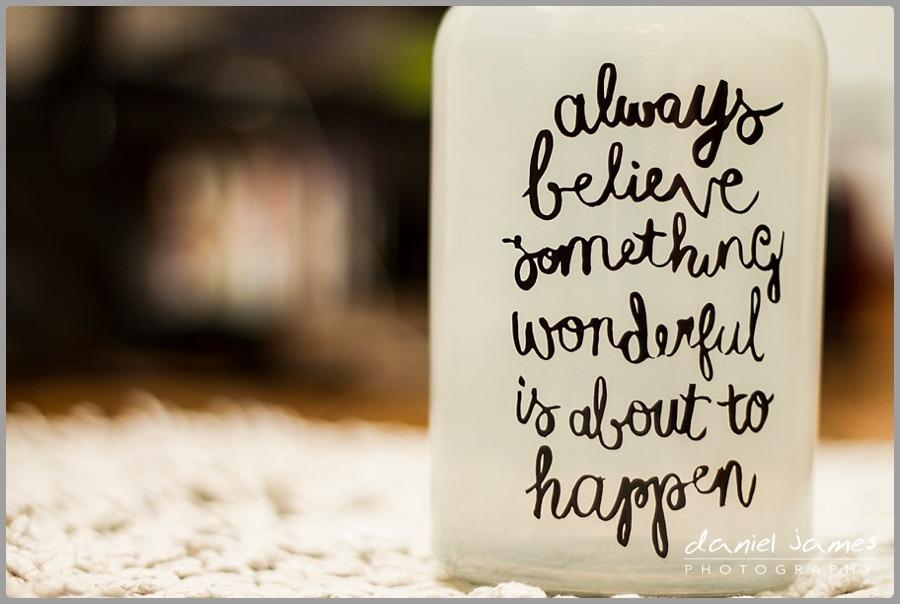 always believe quote vase glass jar